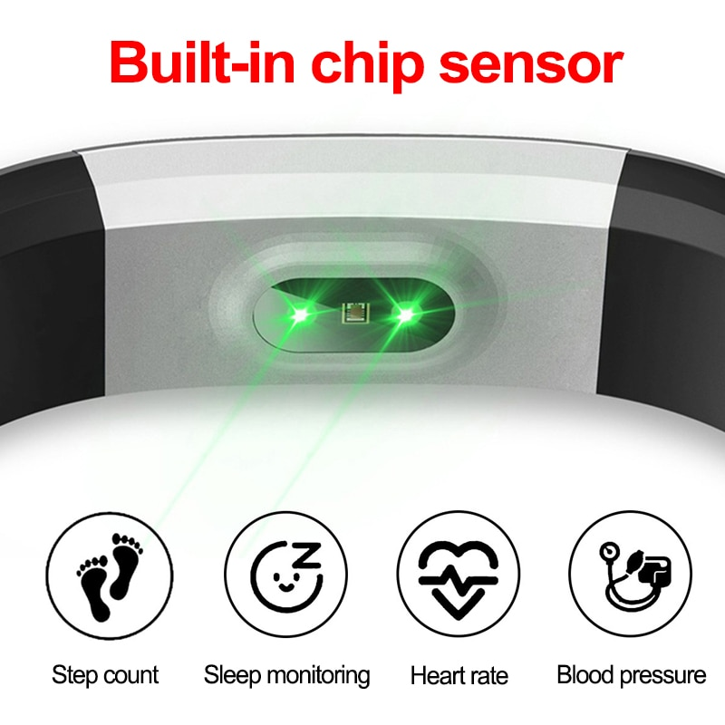 Smart Bracelet Sport Health Bracelet Heart Rate Blood Pressure Smart Band Activity Fitness Tracker Smartband
