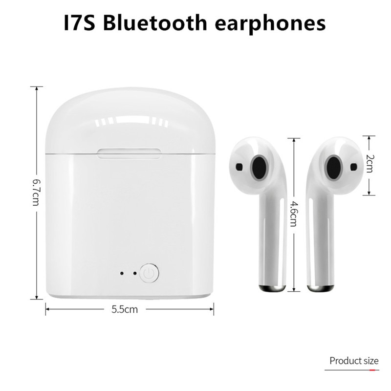i7s Tws Wireless Headphones sports Earbuds Handsfree in ear Bluetooth Earphones music Headset Works on all smartphones goophone