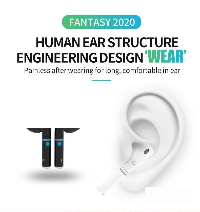 Fantasy 2020 Earphones Bluetooth 5.0 Wireless Earbuds HiFi Stereo Touch Earphones Waterproof TWS Gaming Headset for IPhone