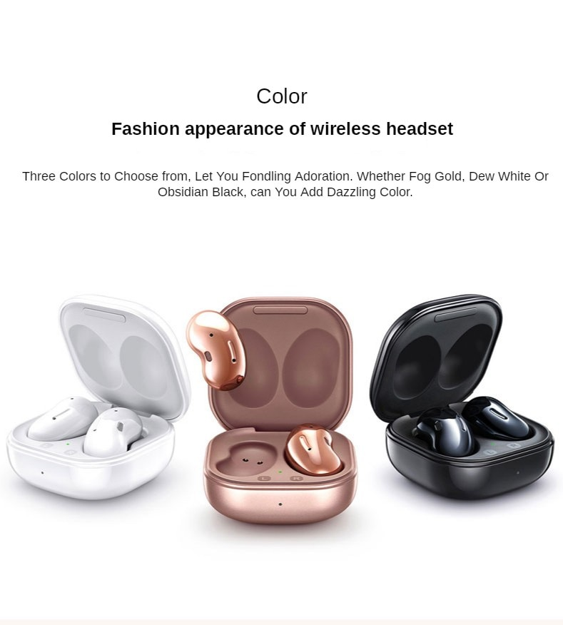 New For Sam sung Gal axy Buds Live SM-R180 Headset  Bluetooth in-ear True Wireless earphones Wireless charging Sport Earphone