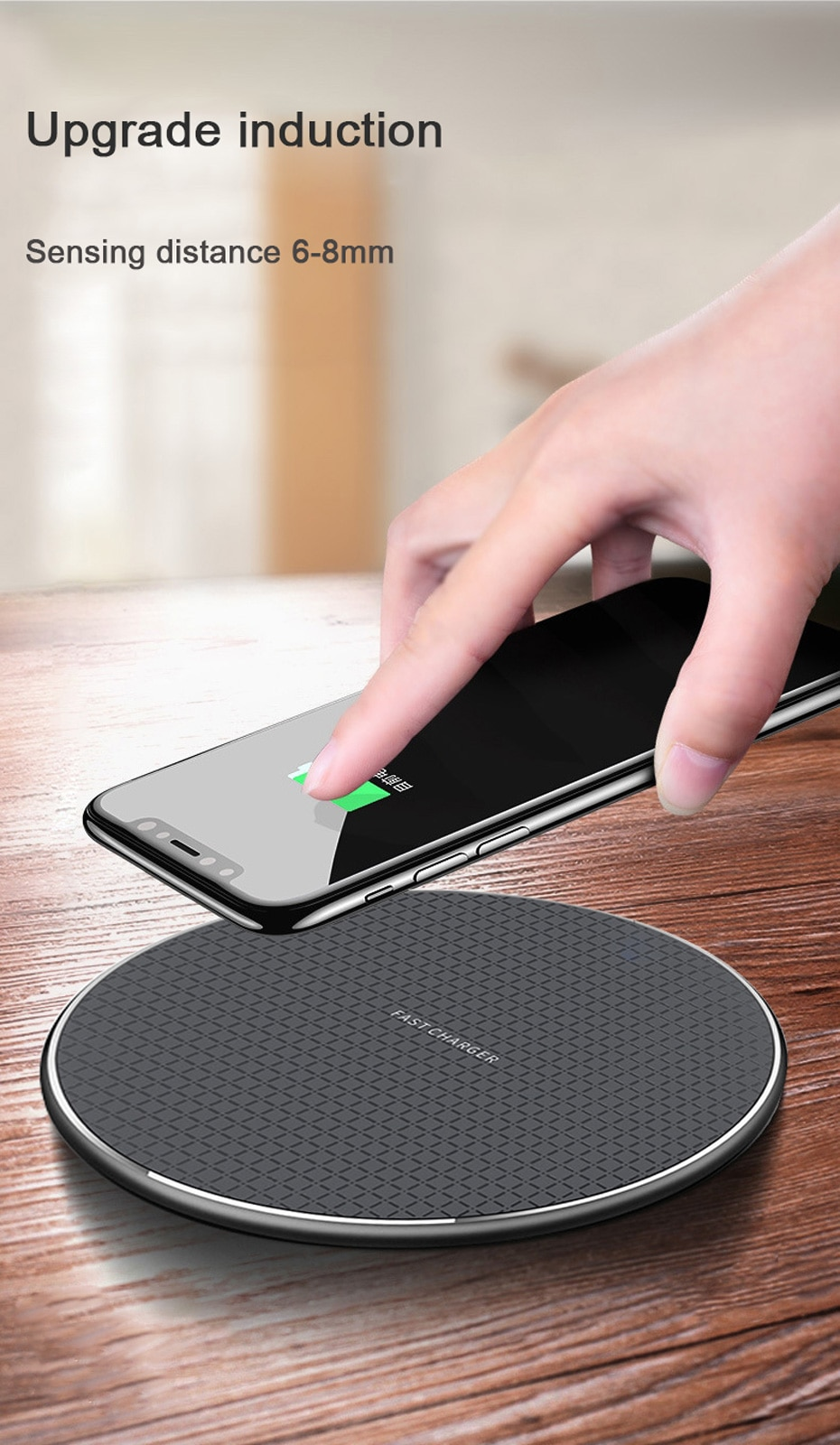 10W Quick Wireless Charger for Standard QI Android Phones S9 S10 S20 Note9 Fast Wireless Charging Pad for Phone 11 Pro XS Max XR