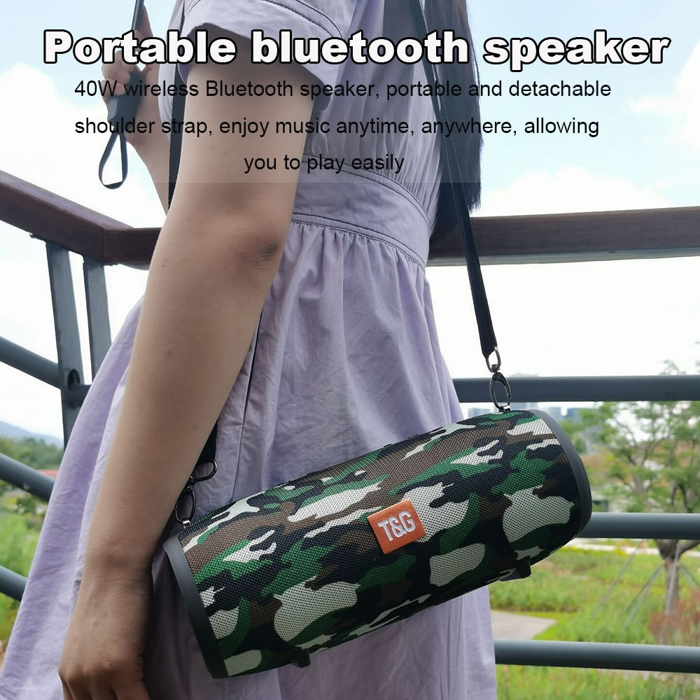 High power 40W Bluetooth speaker bass Portable column wireless Stereo subwoofer Music Playe Center With 3600mAh Battery soundbox