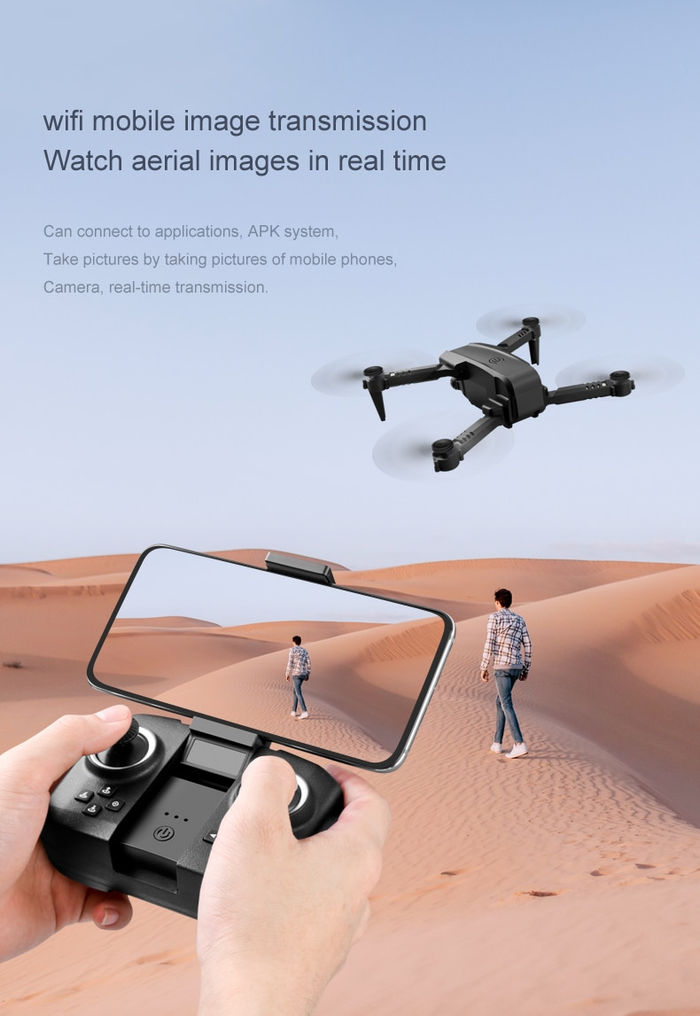 NYR 2020 New Mini Rc Drone XT6 4K 1080P HD Dual Camera WiFi FPV Air Pressure Altitude Hold Foldable Quadcopter Dron for boy toys